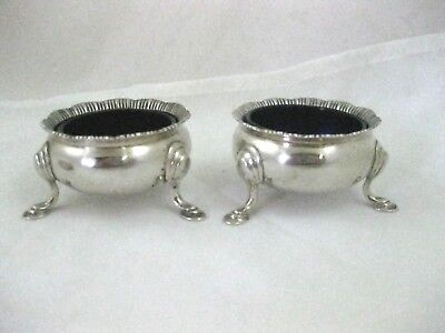 PAIR OF TABLE SALTS  Solid Silver   Hallmarked  LONDON 1935