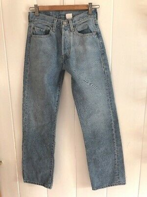 Levis 501 XX Vintage Womens High Rise Mom Jeans Button Fly 27x30 Light Wash