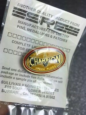 Champion Spark Plugs Pin Vintage Original NOS