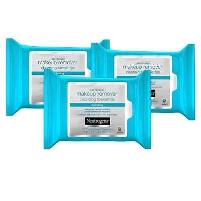3 Neutrogena Makeup Remover Cleansing Towelettes Refill Pack 25 Each