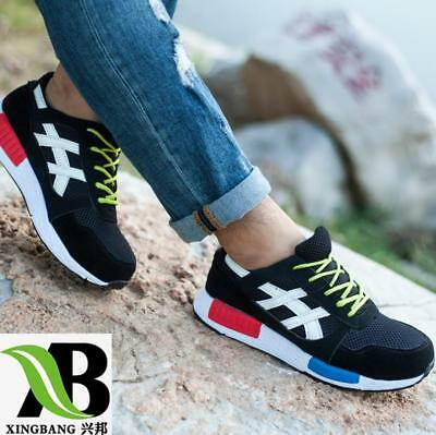 NEW Mens Womens Safety Steel Toe Cap Work Hiking Mesh Trainers Boots Shoes