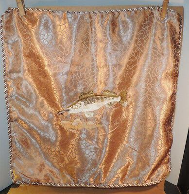 Embroidered Walleye Pillow Cover