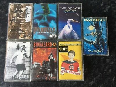 Job Lot Of Metal Cassettes Pantera Biohazard Rage Against The Machine