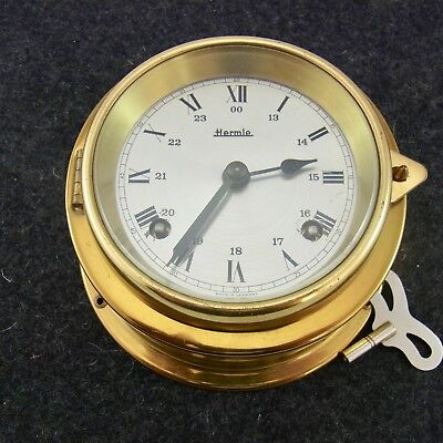 Maritime Wanduhr Hermle Glasenuhr Messing