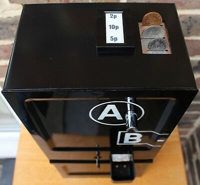 original A B coin box payphone GPO BT P&T decimal mechanism includes both locks!