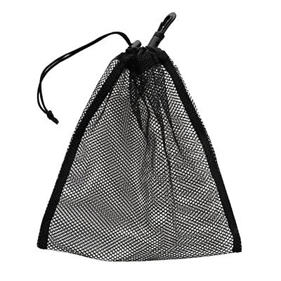 Drawstring Mesh Bag Pouch Dive Gear Golf Tennis Ball Holder Storage 20x24cm