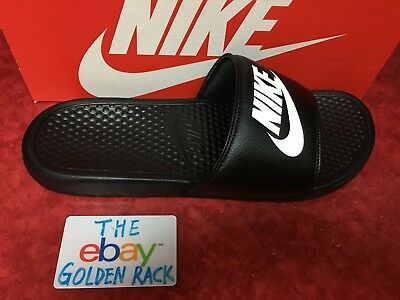 Nike Benassi JDI Men's Slide Black White 343880-090 SZ 7-14 Free Shipping