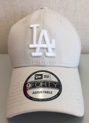 New Era Beige Los Angeles Dodgers 9Forty Strapback Cap One Size