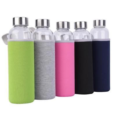 Bottle Water Portable Cup Glass 550ml Sport Juice Mug Sports Drinking Travel Car