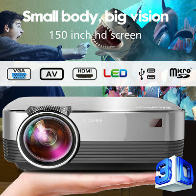 Mini 3000 Lumen LED Projection Projector Beamer HD 1080P 3D Home Cinema Theater