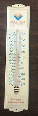 Vigortone AG Products Metal Advertising Thermometer Vintage Wall Mount 12 3/4""