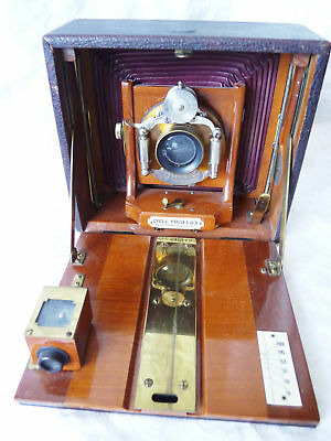 ROCHESTER CAMERA SUPPLY CO  CYCLE POCO #3 4x5 folding wood bellows brass 3850