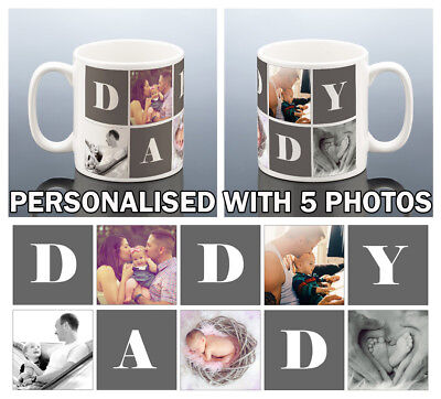 PHOTO DADDY MUG Personalised Birthday Gift Best Dad Present Fathers Day Cup Men