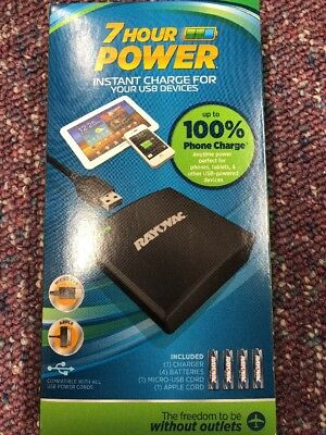 RAYOVAC 7 Hour Power USB Back-Up Charger for Most USB Powered Devices PS73-4BT6
