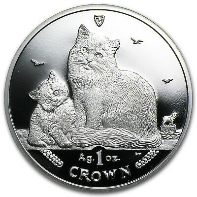 2013 Isle of Man 1 oz Silver Siberian Cat Proof - SKU #76451