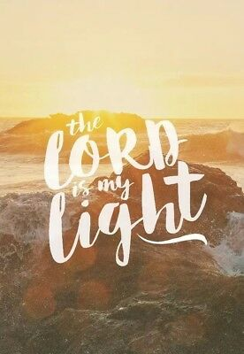 The Lord Is My Light Fridge Magnet - Bible / Christianity