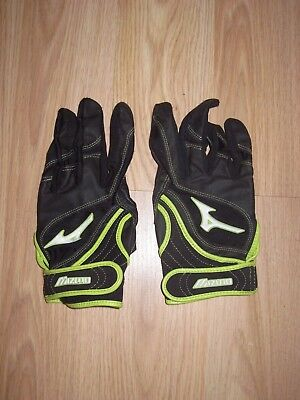 Mizuno Women's Fastpitch Softball Neon Green Batting Gloves/Size Large/Free Ship