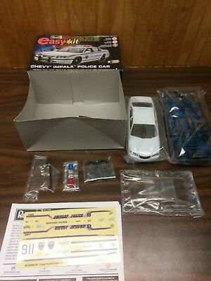 Revell Chevy Impala Police Car Easy-Kit 1/25 Opened Factory Sealed Bags 85-1928