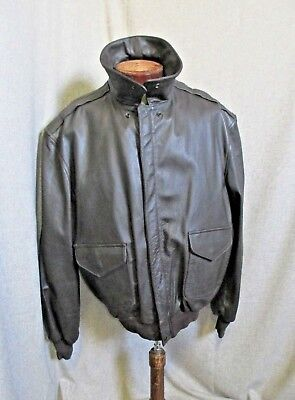 Cooper Type A-2 USAF Men's Made In USA Leather Bomber Flight Jacket Coat  54 L