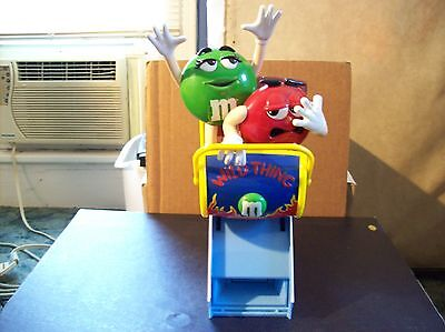 """M&m's Wild Thing Roller Coaster Candy Dispenser 11"""" Tall Great Condition"""