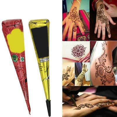 Natural Herbal Henna Cones Temporary Tattoo Kit Body Art Paint Ink