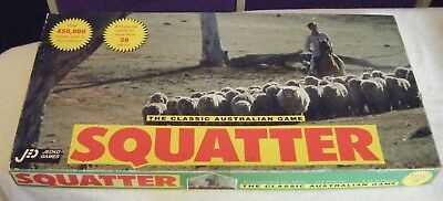 Vintage SQUATTER The Classic Australian Game.1960 Jedco Games.