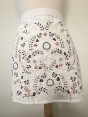 QUACKER FACTORY Embroidered Critters Denim Skirt Many Sizes 240665RM