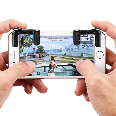 "4.5""-6.5"" Phones Pair of Mobile Game Controllers Sensitive Shoot Aim Buttons CA"
