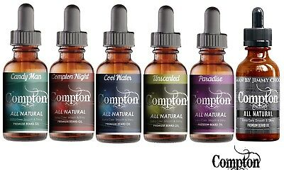 Compton Premium  Beard Oil - Set Of Two Made In Melbourne