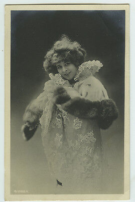 c 1903 French theater Elise De Vere unlabeled undivided back photo postcard