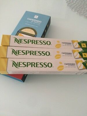 NESPRESSO 30 capsules CAFEZINHO do Brasil New coffee Limited Edition Brazil trio