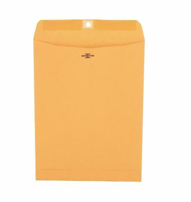 Universal Clasp Envelope Side Seam 28lb 9 X 12 Kraft 100ct Gummed Flap - New