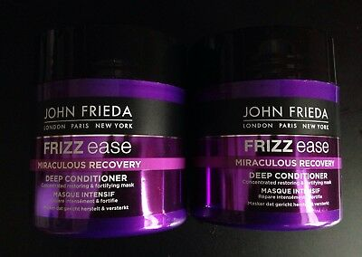 2 X John Frieda Miraculous Recovery Intensive Masque Deep Hair Conditioner 150ml