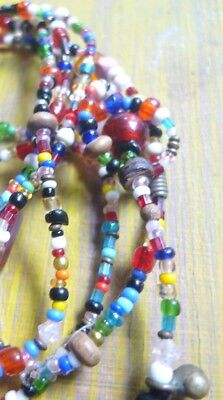 Vintage love beads 1970s original glass 140cm/ 55 inches flapper style