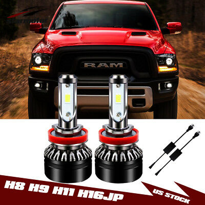 CREE LED H11 H8 H9 H16 Low Beam Headlight Bulbs FOR Dodge Ram 1500 2500 4500