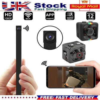 HD 1080P WiFi Hidden Spy IP Camera Mini Wireless Cam for Home Office Camcorder