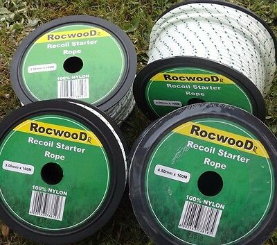RECOIL STARTER PULL CORD ROPE MOWERS ETC 6mm 5mm 4.5mm 4mm 3.5mm 3mm 2-20metres