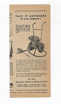 DGM Multi Tool Set Advertisement from 1952 Farming Magazine Farm JAP Engine