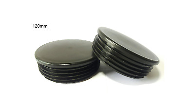 120mm- 10pcs Round Plastic Black Blanking End Cap Caps Tube Pipe Inserts Plug