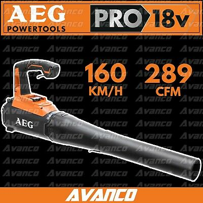 AEG 18V Blower Skin Only Worksite Li-Ion Cordless BRAND NEW 6 YR WTY 160km/h Air