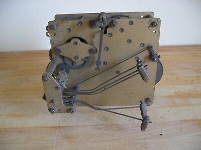 Antique Mechanical Striking Clock Movement - Spares or Repair - Fontenoy