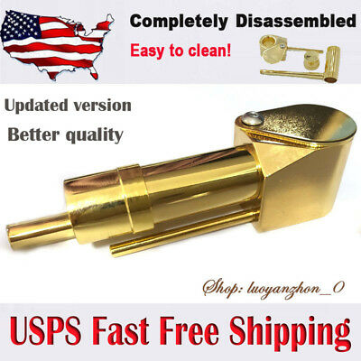 Solid Brass Made Smoking Proto Pipe Tar Trap Stash Storage Cylinder Chamber