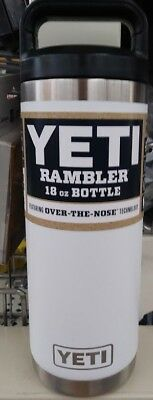 WHITE Yeti  RAMBLER BOTTLE 18 OZ
