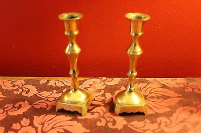 Pair of Vintage Brass Candlesticks Made In India