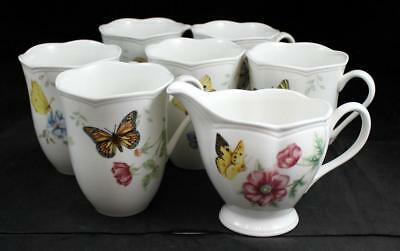 Lenox China BUTTERFLY MEADOW 6 Mugs + Creamer Various designs GREAT CONDITION