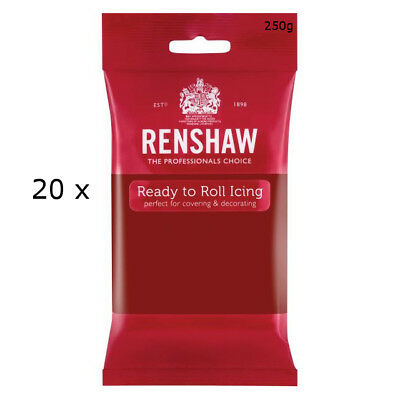 5 Kg Renshaw Ready To Roll Icing Fondant Cake Regalice Sugarpaste RUBY RED