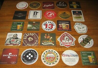 Lot of 25 Different BEER COASTERS ~ New ... FREE Shipping ... #2