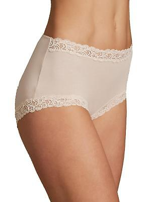 49f362811fd6 NEW Ex Marks And Spencer Ladies Briefs High Rise Boyshorts Cotton Rich  Almond