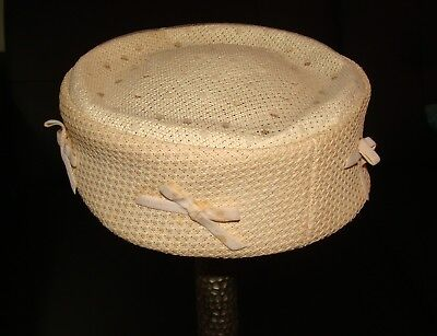 Vintage 1940's Pill Box Ladies Hat Styled by Cinderella NY