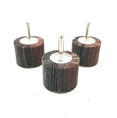 "1/""x1/"" 1//4/"" Shank 40 Grit Flap Wheels Firm Aluminum Oxide 10pcs CGW 39907"